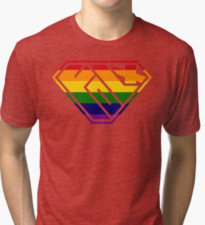 Folx SuperEmpowered (Rainbow) Tri-blend T-Shirt