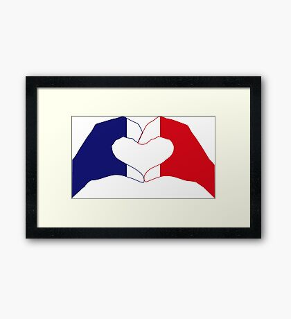We Heart France Patriot Series Framed Print