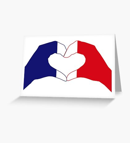 We Heart France Patriot Series Greeting Card