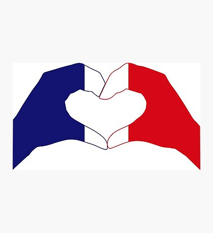 We Heart France Patriot Series Photographic Print