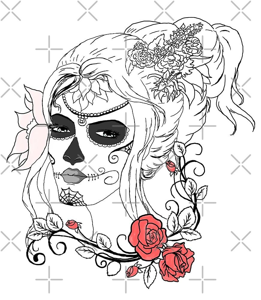 Rose Sugar Skull by NicholiCosplay