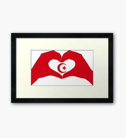 We Heart Islam Patriot Series Framed Print