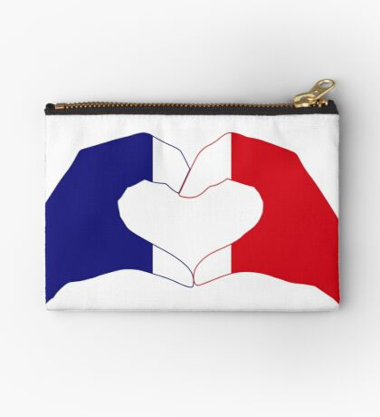 We Heart France Patriot Series Zipper Pouch