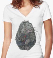 Porcupine Fitted V-Neck T-Shirt