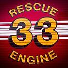 Rescue Engine 33 by Thaddeus Zajdowicz