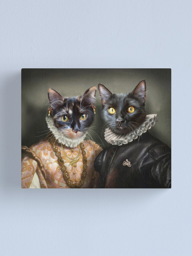 Alternate view of Cat Portrait - Albert and Mary Canvas Print