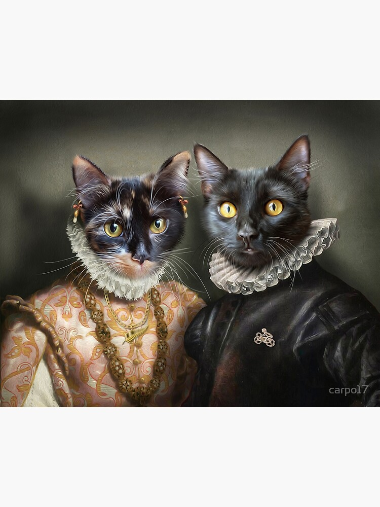 Cat Portrait - Albert and Mary by carpo17