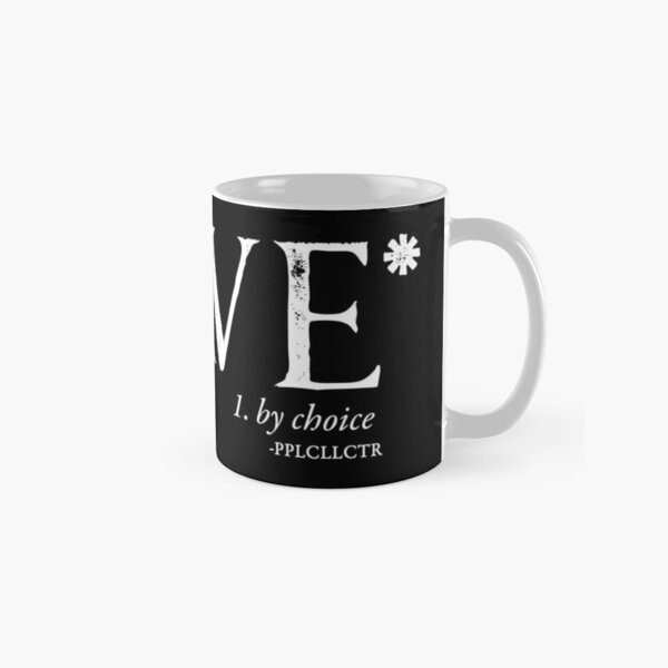 Slave By Choice (white text) Classic Mug