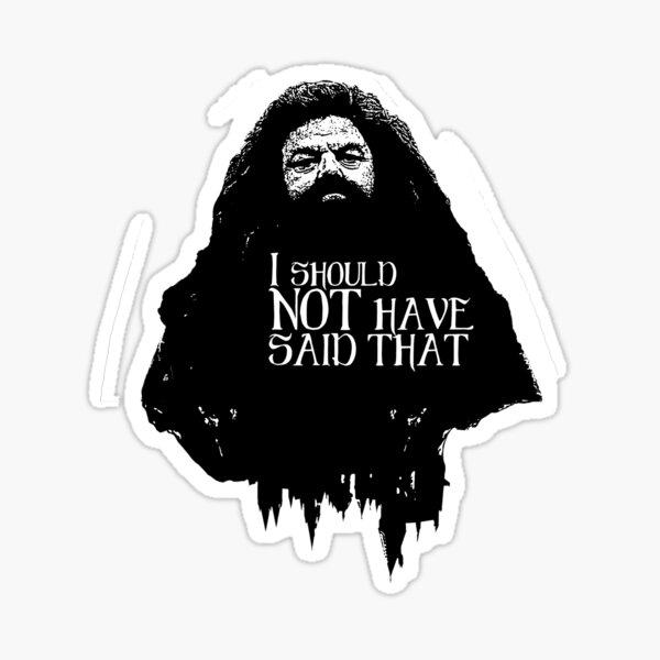 Hagrid's Quotes Sticker