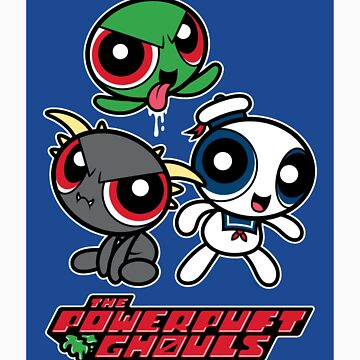 The Powerpuft Ghouls (STICKER) by mikehandyart