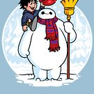 Inflatable Snowman by mikehandyart