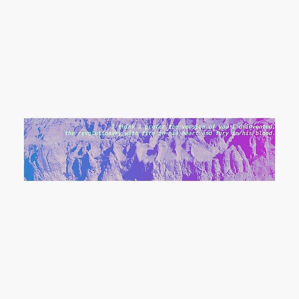 Badlands Gradient - Pink to Blue Photographic Print