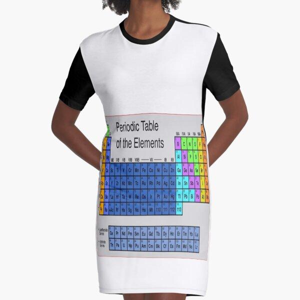 Таблица Менделеева, Периодическая таблица, #Периодическаятаблица, Periodic Table of the Elements #PeriodicTable #Elements #Periodic #Table #Chemistry #worksheet #science Graphic T-Shirt Dress