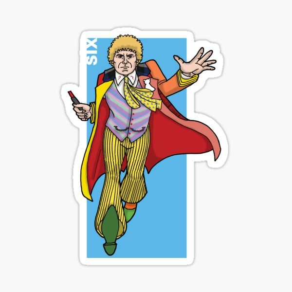 Doctor Who - The Sixth Doctor 'SIX' Sticker