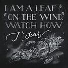 Firefly Leaf on the Wind by thechalkgeek