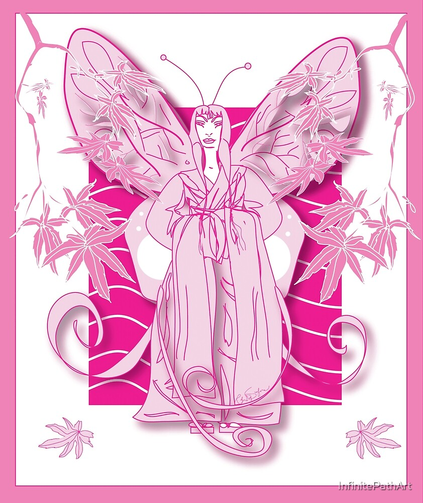Madame Butterfly Pink by InfinitePathArt