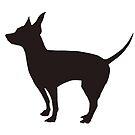 Rat Terrier Silhouette  by Lorie Warren