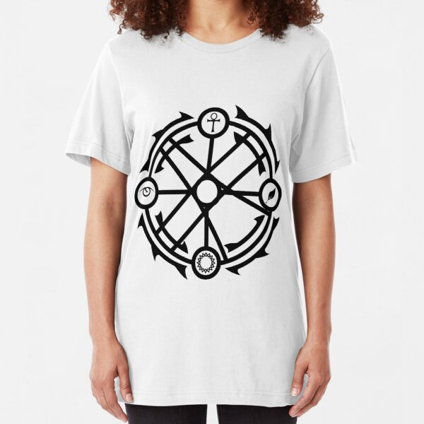 Circle of Interaction - Black Slim Fit T-Shirt