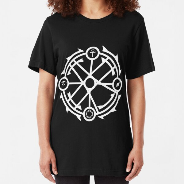Circle of Interaction - White Slim Fit T-Shirt