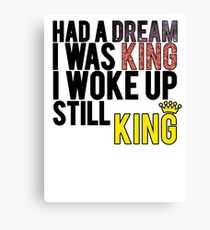 Woke Up, Still King - Eminem Canvas Print