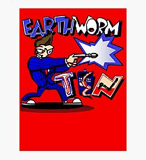 Earthworm Ten 2 Photographic Print