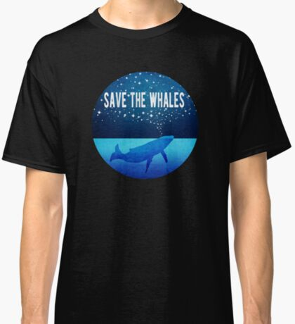 Save the Whales - Star Spouting Whale Classic T-Shirt