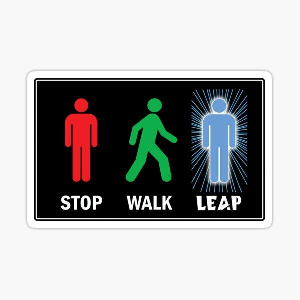Quantum Leap Pedestrian Sign Sticker