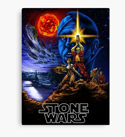 STONE WARS Canvas Print