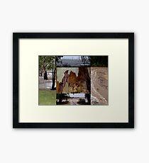 RAIN collage Framed Print