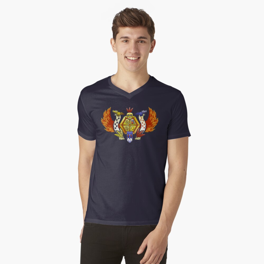 Treasure Hunters Crest (REVAMPED) T-Shirt mit V-Ausschnitt