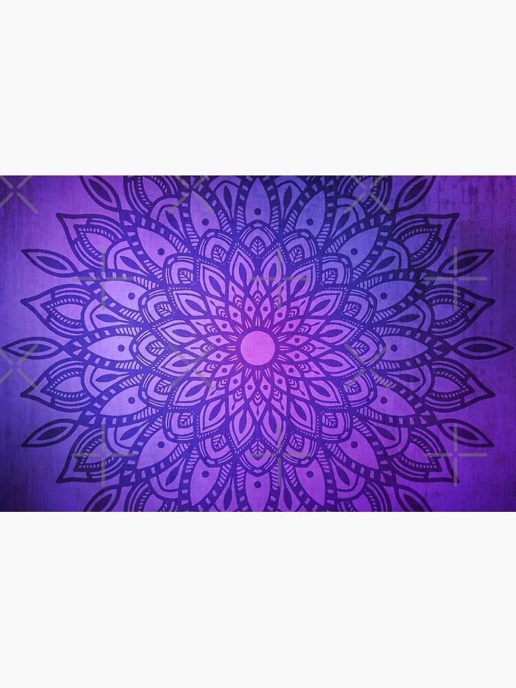 Dark Mandala in Purple, Pink and Navy by kellydietrich