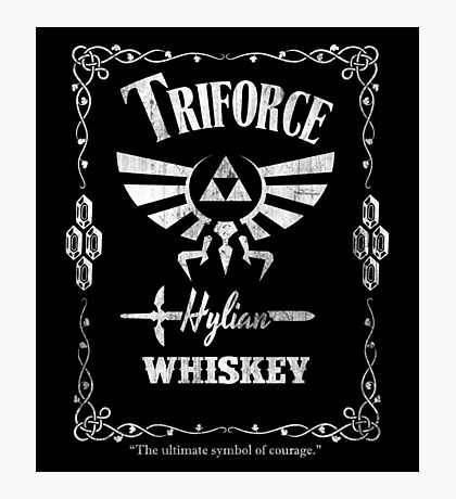 Triforce Whiskey Photographic Print