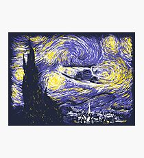 Starry Time Travel Photographic Print