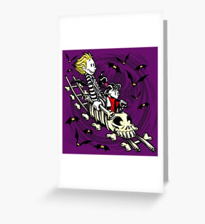 Calvydia and Beetlehobbes (Dark Shirts) Greeting Card