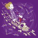 Calvydia and Beetlehobbes (Dark Shirts) by Punksthetic