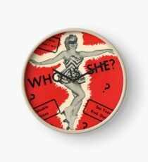 Who Is She? Clock