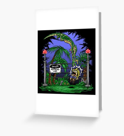 Jurassic Pounce! (Light Shirts) Greeting Card