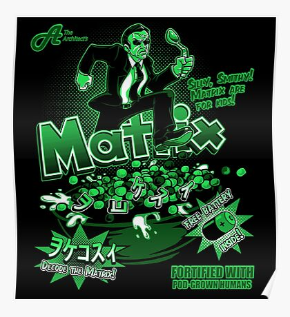 Matrix Cereal (Black Ed) Poster