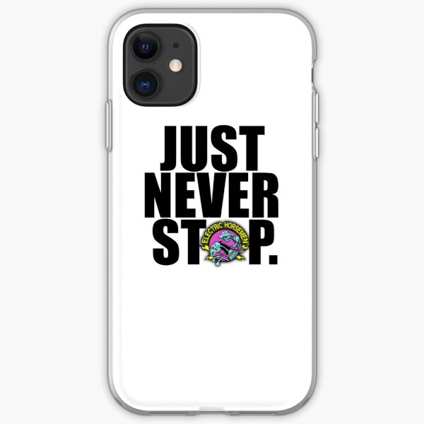 electric horsemen just never stop iPhone Soft Case