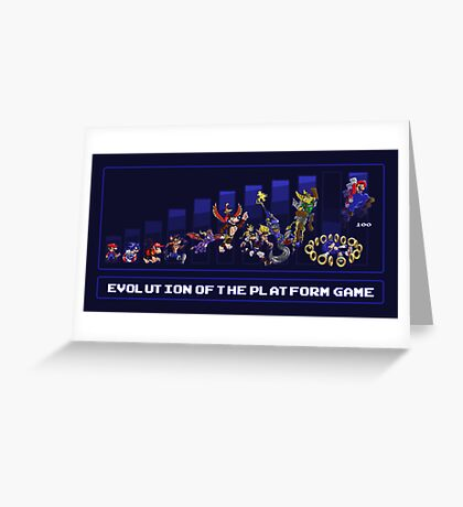 Evolution of the Platform Game Greeting Card