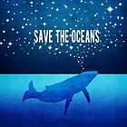 Save the Oceans - Star Spouting Whale by jitterfly
