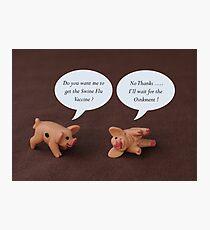 Swine Flu ? Photographic Print