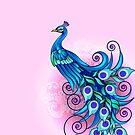 Beautiful blue peacock by Jatmika Jati