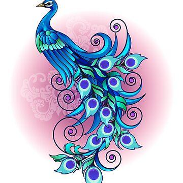 Beautiful blue peacock by msjeje