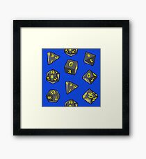 Blue Gaming Dice Framed Print