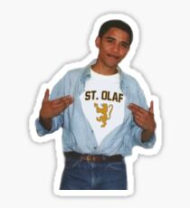 Obama St Olaf Shirt Sticker