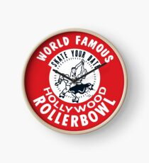 Hollywood Rollerbowl Clock