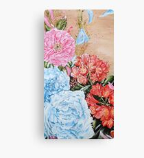 POISE AND PRIDE- Peony And Bush Lily Canvas Print