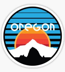 Oregon - Mt. Hood and Haystack Rock Sticker