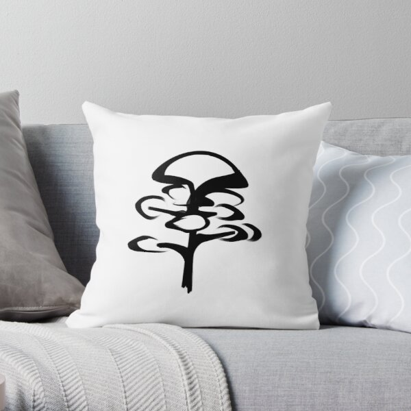 Tree Ink Art Throw Pillow